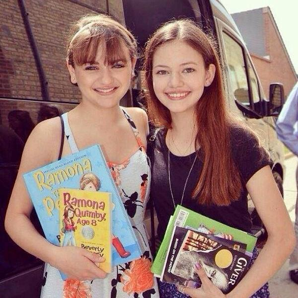 Photo of Joey King & her friend model  Mackenzie Foy - United States