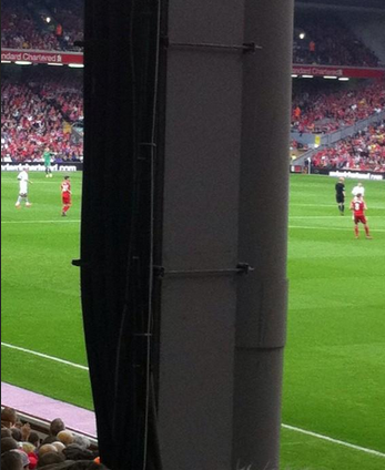 Liverpool fan left furious after paying £50 for this seat at Anfield: http://t.co/BP0nVG1NJA #lfc #avfc http://t.co/geWIgODcu9