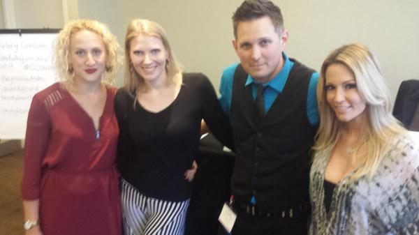 Group shot before our #cconporn panel! @Daneballard @thedylanryan @thejessicadrake http://t.co/tlcA2EWz7f