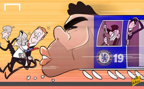 Cartoon of the Day: Chelsea's runaway train led by rampant Costa http://t.co/O4nfh9ccaL #CFC http://t.co/C4mT203oAl