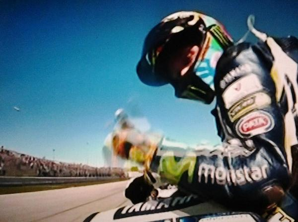 Welcome back!! Top Gun @ValeYellow46 winner #MotoGPMisano @lorenzo99 @YamahaMotoGP #TIMrace http://t.co/K9R3tzm5FC