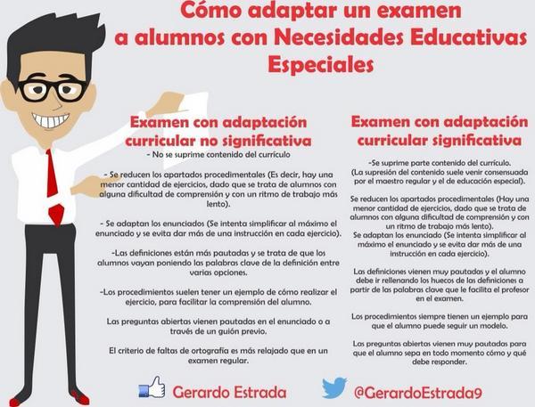 Cómo adaptar examen alumnos con necesidades educativas especiales por @GerardoEstrada9 #diversidad http://t.co/LdsKwEka0f @Tuitorientador