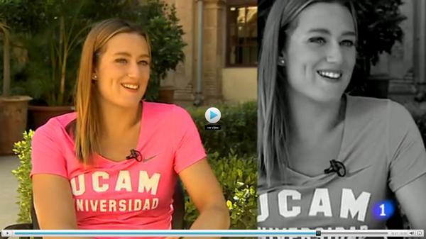 Mireia Belmonte @miss_belmont, protagonista en @rtvees durante su visita a la UCAM http://t.co/oTDRrXBko6 http://t.co/h5nG3cC9rN