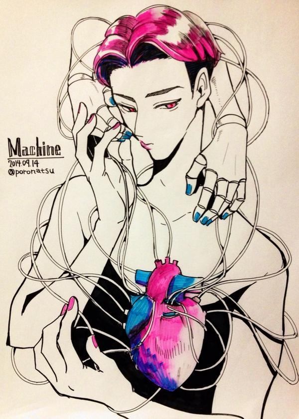 時間切れだー!!MACHINE!! #EXOの深夜の真剣お絵描き60分一本勝負