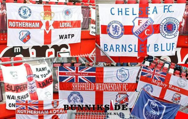 Fc Utrecht Fans On Twitter Vlaggen Van De Aanwezige Chelsea En Rangers Fans Respect Boys Friends Forever Uuuuu Http T Co S6commxe79