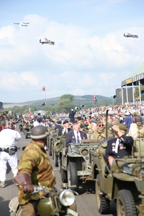 What a moment that was with the #2LancsUK and the huge fleet of WWII vehicles... Stunning. #GoodwoodRevival http://t.co/XEGxfHYqFc