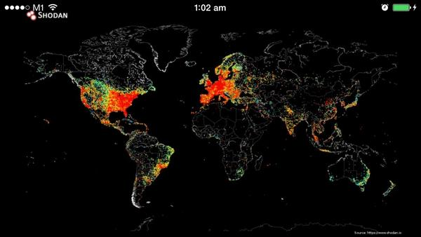 Amazing map showing every device that's connected to the web http://t.co/Sap5yp7TLn