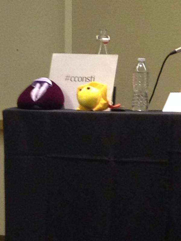 Plus co-presenters, Vulva Puppet & Plush Herpes Microbe. #cconsti #PCatCCon http://t.co/8IhVoZZUMp