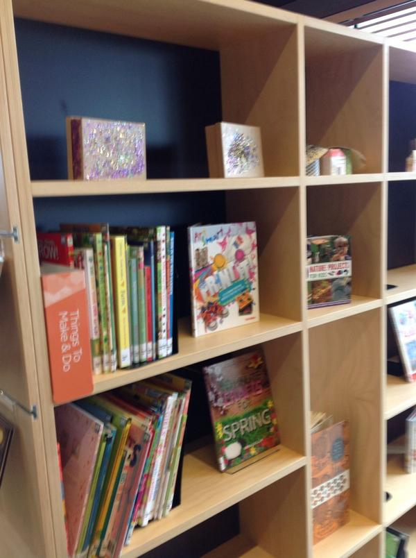 Children's shelving - library @ at the dock http://t.co/yJaMpEQc0U