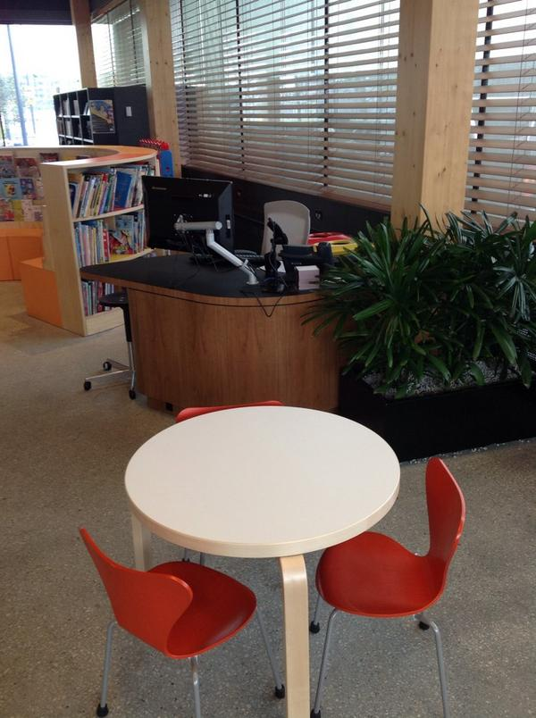 Service point in children's area, library @ at the dock, Melbourne http://t.co/vVqU0veAud