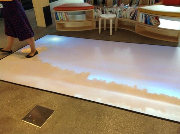 Responsive floor, a floor you can play with, library @ at the dock, Melbourne http://t.co/jQQ1pWSzPS