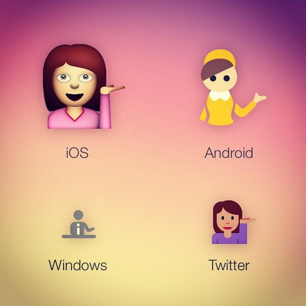 Emojipedia On Twitter Information Desk Person Emoji As Shown Ios Android Windows And Sy Http T Co Ggefwxoabk