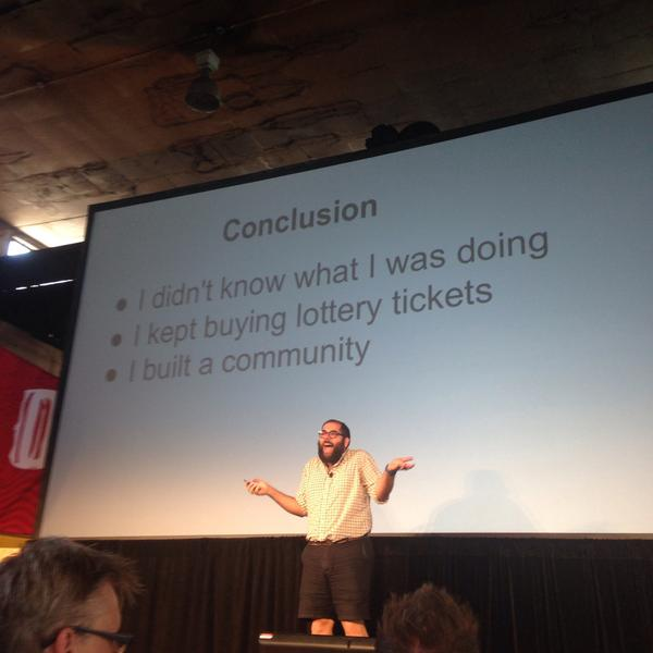 Hilarious #xoxofest talk by @tinysubversions. This shot explains it perfectly. http://t.co/ziIEzbrFM9