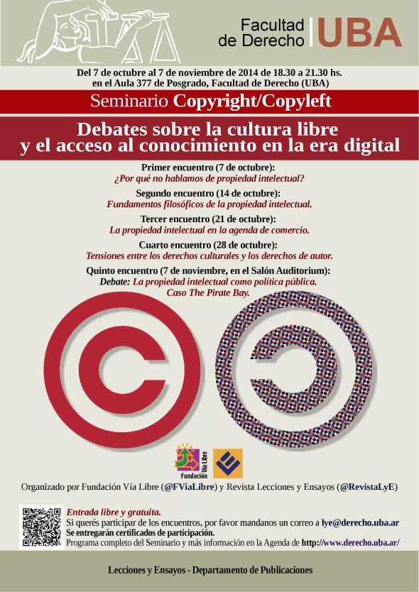 afiche copyright copyleft derecho