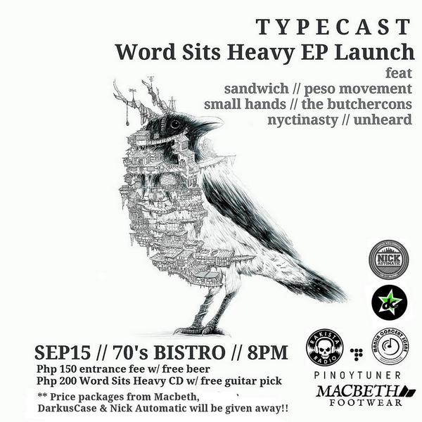 tonight we launch our EP #WordSitsHeavy @ the 70's Bistro! Lots of freebies & prizes 2 be given away so dont miss it! http://t.co/NORz9Y3xVX