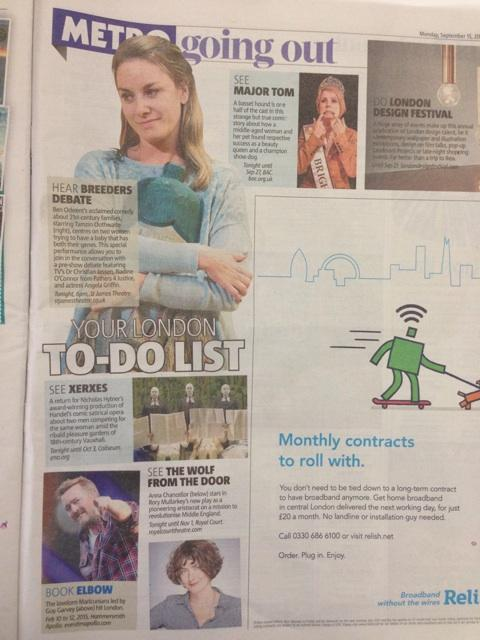 RT @BreedersPlay: Great picture of @mouthwaite in @metrouk ahead of tonight's #BreedersDebate. Join us at 6pm @St_JamesTheatre http://t.co/…