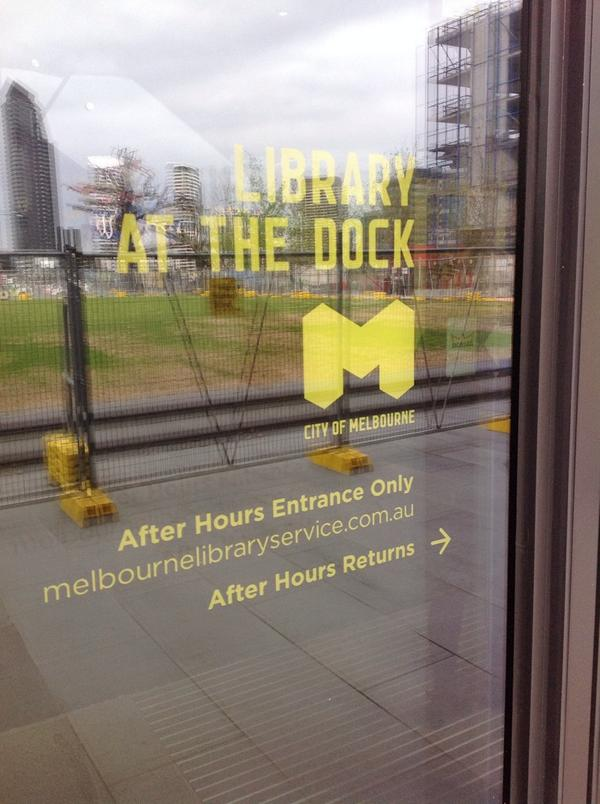 library at the dock, Melbourne - after hours entry http://t.co/o6zh5U2K8A
