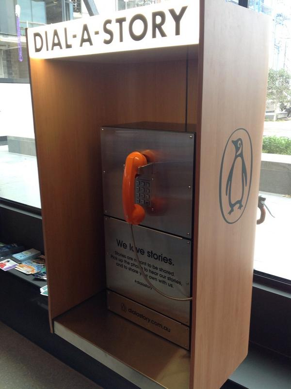 library at the dock, Melbourne - dial a story, next to cafe space http://t.co/QvSrQgo6O9