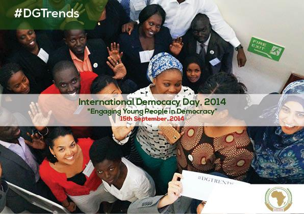 It's Int'l #DemocracyDay today. @_AfricanUnion is consulting young people on 'Silencing the Guns' #Africa #DGTrends http://t.co/5s1qHpx3g5""