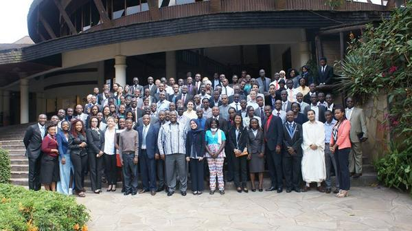 Young people that are gathered in Nairobi for the #DGtrends conversation on Silencing Guns. http://t.co/54bWaRQz0e