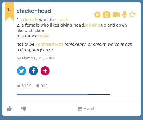 meaning of chicken head urban dictionary