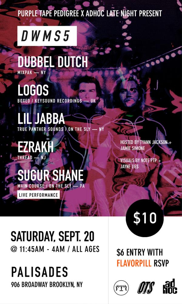 brooklyn catch us this Saturday at Palisades: me @Logos262 @LiLJaBBAA @EZRAKH @SugurShane http://t.co/9hw8tzjHzn http://t.co/XuOywZOLoa