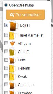nouveau sélecteur de bières