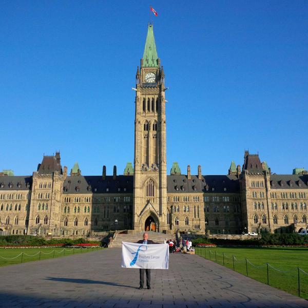 Bringing the @ProstateCancerC flag to #Ottawa to mark #ProstateCancerAwarenessMonth Day 15 http://t.co/eAHty9yheu