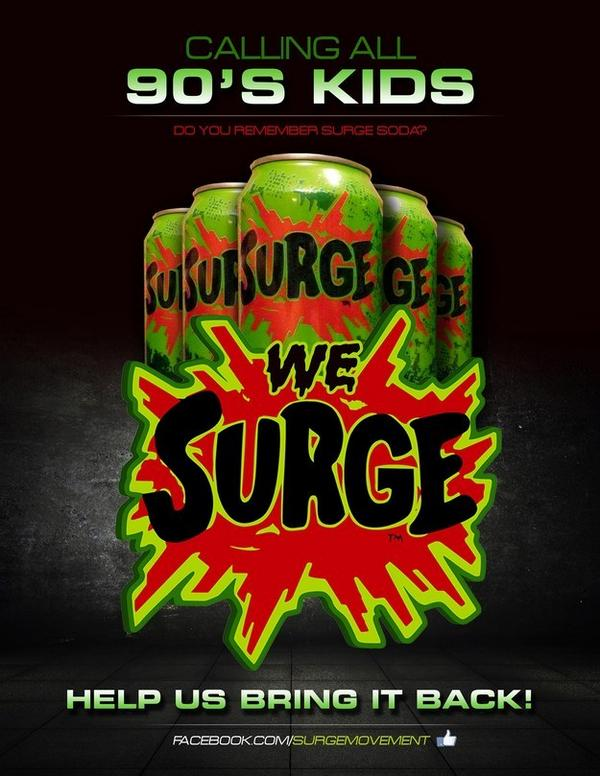 After 12 years, Coca-Cola is bringing Surge back (http://t.co/cDmagWJ3bv) http://t.co/flRysjXDGF