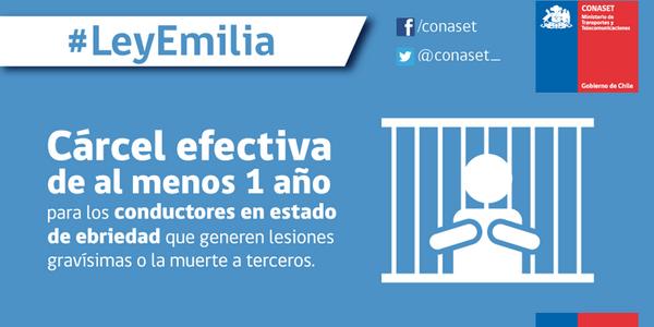 Se promulgó Ley Emilia, este 18 cuídese y cuide a los que quiere.Sea responsable y si va a conducir no beba http://t.co/wW0gYm4ExP