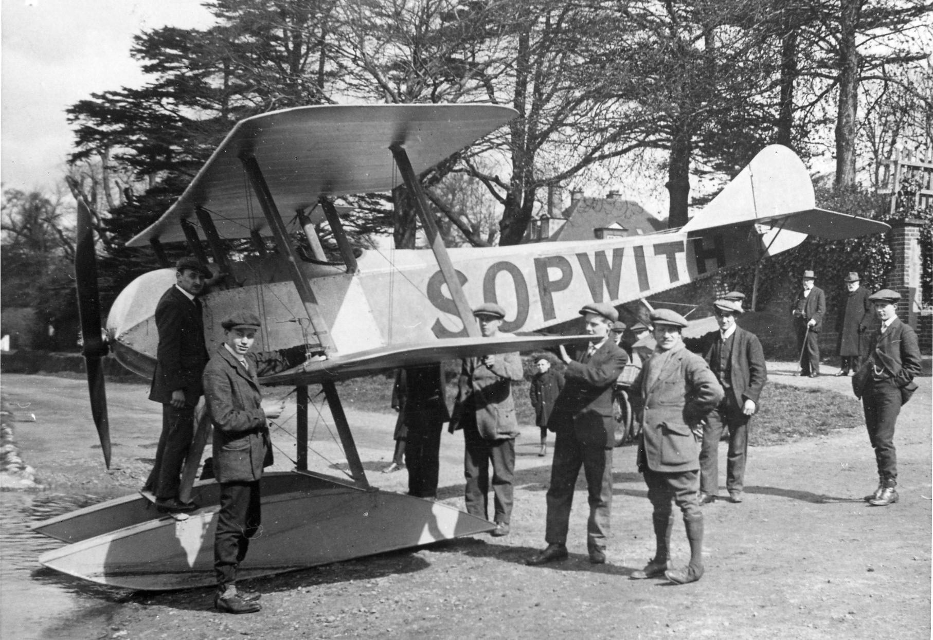 Original Sopwith plane in Kingston 1914