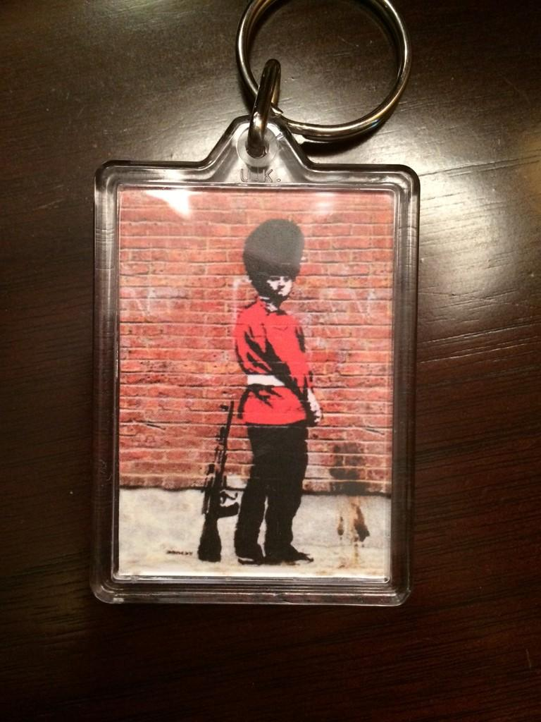 RT @jonphoff: @Global_SMG @thereaIbanksy keychain goody to kick off wk of global mtgs properly. Brilliant. Cheers mates. #smglondon http://…