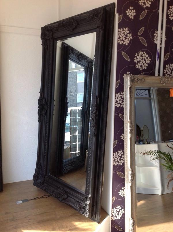 Bumps Boutique On Twitter 2 Large Black Ornate Mirrors For Sale Only 180 Each Like New 38 5 In W X 72 5 In H Wall Fixings Attached Unused Http T Co Uslx1vv08i