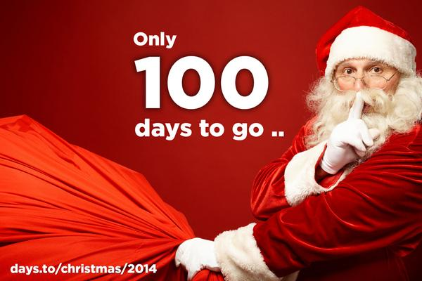 days to on twitter only 100 days until christmas retweet if youre looking forward to it and count down here httptcod6jrrtiq2b - How Many More Days Until Christmas 2014