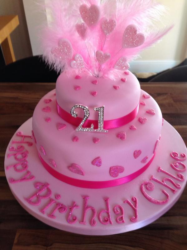 Pink Glitter 21st Birthday Cakepictwitter O21K7Fu0PT