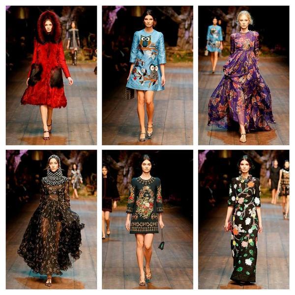 Il fiabesco mondo di #dolcegabbana - collezione fw14 donna #fashion #mfw #look #dettagli #modadonna @stefanogabbana http://t.co/Vmu6MaKWfJ