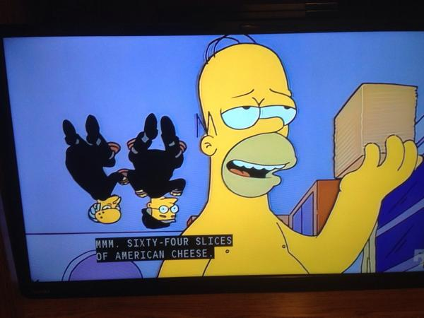 Mmm64 Slices Of American Cheese One My All Time Favorite Bits EverySimpsonsEverpictwitter FUynfA02Pe