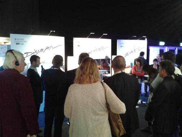 14/ booth L01 #IBC2014 #HbbTV demos for @HbbTV_official! Wiztivi remains an active contributor to its development