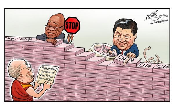 Rebel Pepper on South African denial of Dalai Lama's visa MT @remonwangxt 南非政府再次拒签老和尚,不许他来南非参加诺贝尔和平奖得主峰会,中国政府对此表示感谢… http://t.co/ZZMVaevTSh