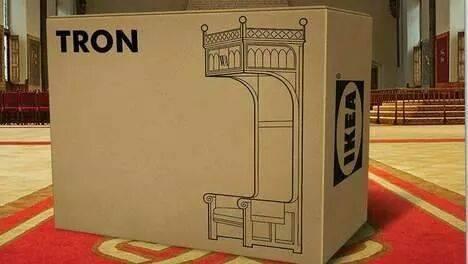 Tron. Van IKEA. #prinsjesdag http://t.co/AdvTcaOb52