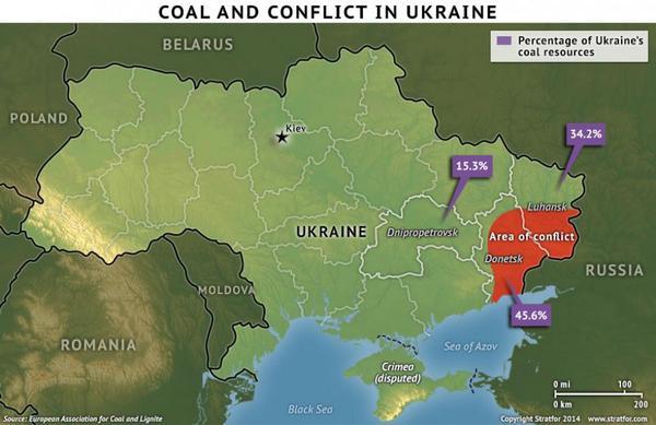 stratfor on twitter stratfor map coal and conflict in ukraine httptcoaxobuapkzu httptcoe8k6vgpgre