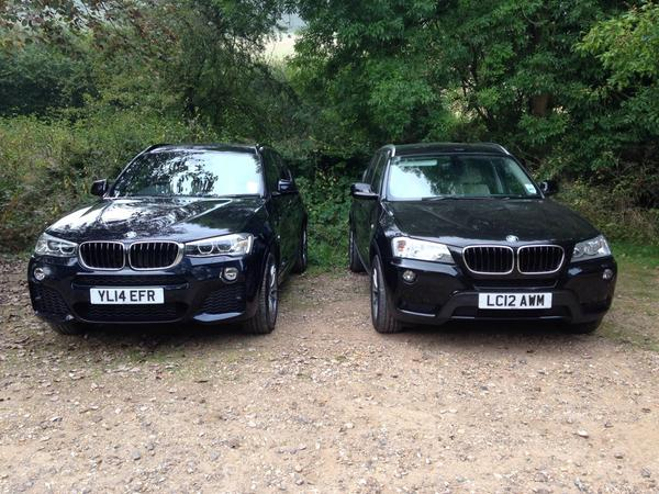 Spot the difference. Old and new BMW X3. http://t.co/ERabaQUuyZ