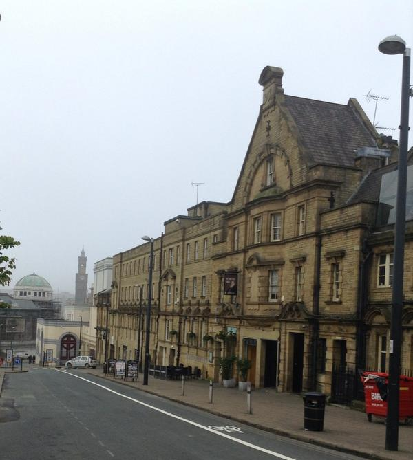 In brilliant City of Bradford on my way past The Sir Titus Salt pub for #BradGender @BradfordUni http://t.co/htcGRZkGIF