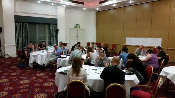 I work 'em hard on my workshops... #TCUK14 http://t.co/uxVeSokySB