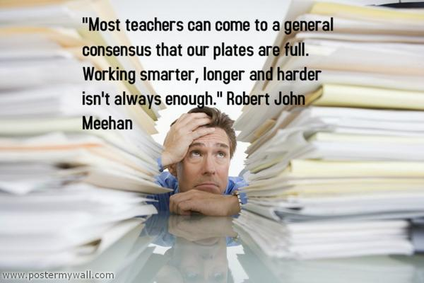 """""""Most teachers can come to a general consensus that our plates are full...Yet we PERSEVERE!  http://t.co/niHUKOwqNT #ulearn14"""