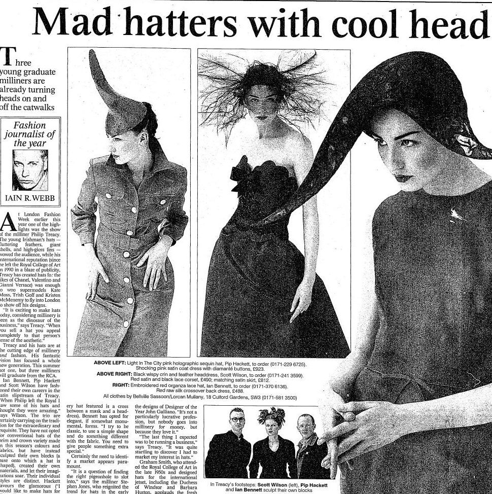RT @thetimes2: .@Erin_O_Connor enjoys some milinery madness at London Fashion Week in 1996 http://t.co/adkB92hrzL #LFW http://t.co/K3ZYfNI8…