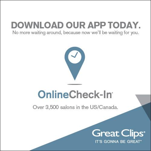 "· - Various improvements to Check in online: see wait times in real-time at Great Clips hair salons near you. Check in before arriving at Great Clips for your haircut. New in - We have introduced an easy way to get to your messages. Tap on the ""Messages"" navigation in /5()."