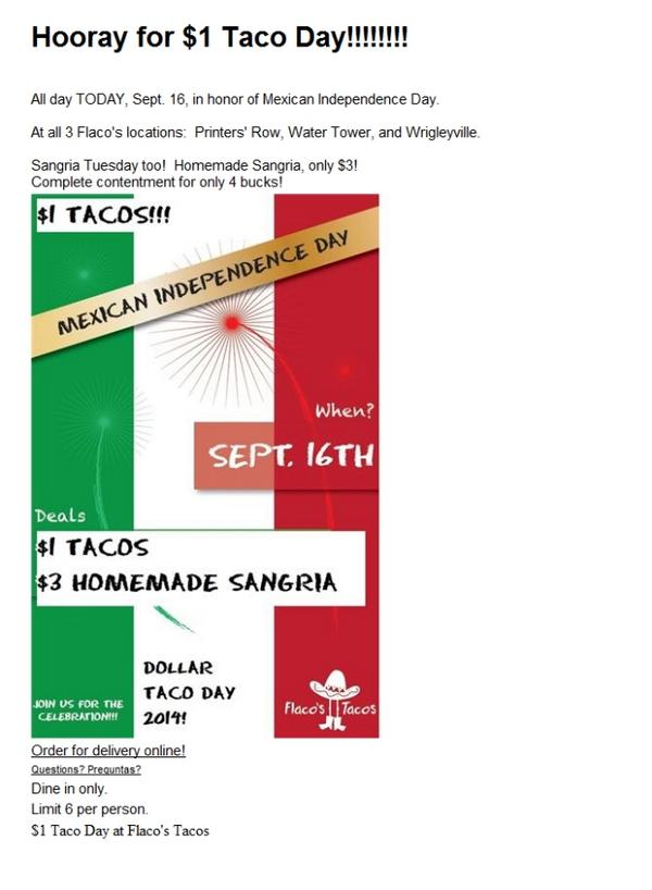 Today is Dollar Taco Day at Flaco's!!!!!! http://t.co/EBJEas9iL9 http://t.co/mt4tNXV7GB