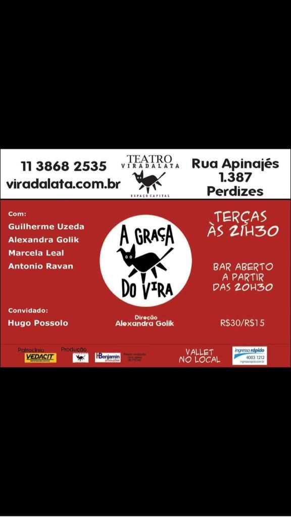 @marcoluque @andreolifelipe @paulinhogogo  Por favor ajudem a divulgar ! E apareçam as Terças 21:30 A Graça do Vira! http://t.co/wJ4YRYvUTL