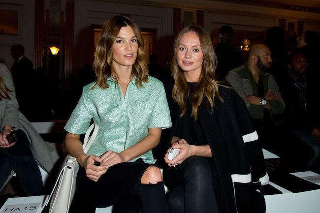 RT @laurajhaddockfp: @laurajhaddock and @HanneliM at the Pringle of Scotland SS15 show during the London Fashion Week on September 14th. ht…